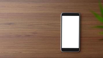 vista superior de uma maquete de smartphone