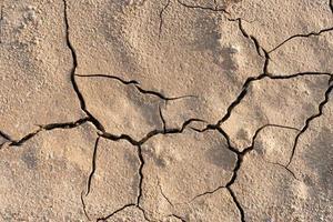chão seco e rachado foto