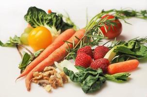 variedade de vegetais frescos foto