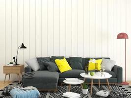 sofá secional na sala de estar foto