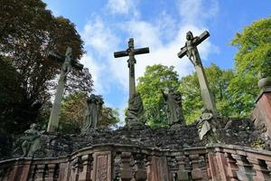 cruzes no mosteiro em Hamelburg