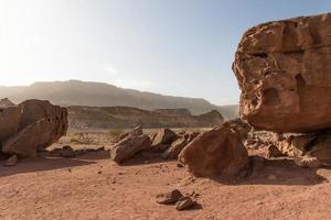 paisagem do deserto em israel foto