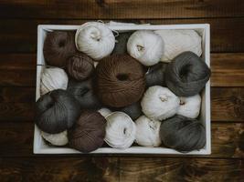 fios coloridos para tricô