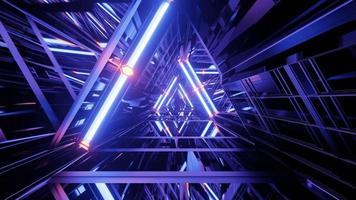 ilustração 3d de prisma roxo