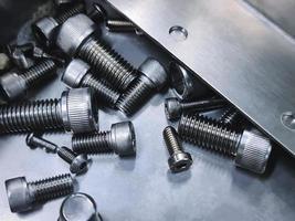 parafusos de cabeça de soquete de aço inoxidável foto