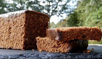 close-up de um bolo de pão foto