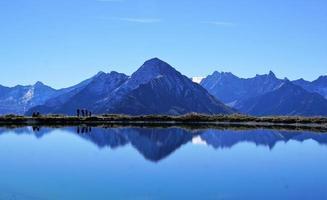 paisagem montanhosa na áustria