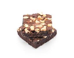 brownies em um fundo branco foto