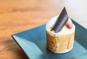 close-up de um bolo de mousse