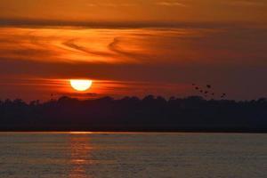 pôr do sol na Flórida foto