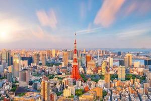 horizonte da cidade de Tóquio foto
