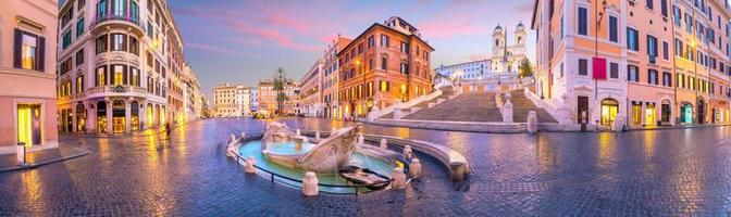 piazza de spagna espanhol em roma itália