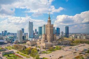 Cidade de Varsóvia no centro foto