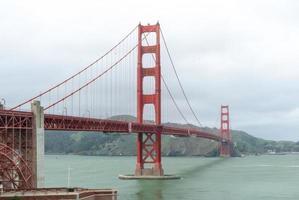 vista da ponte Golden Gate da baía