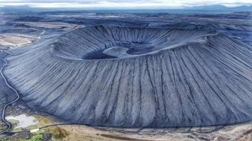 Lago da cratera na Islândia foto