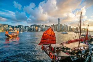 porto de victoria em hong kong foto