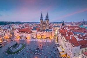 praça da cidade velha em praga, república checa