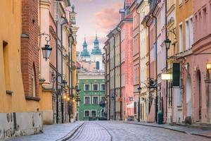cidade velha em Varsóvia, Polónia