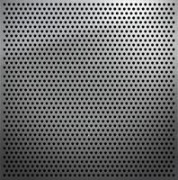 folha de metal com pequenos orifícios