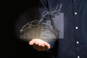 gráfico de barra digital mostrando crescimento foto