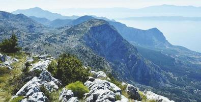 paisagem montanhosa da croácia