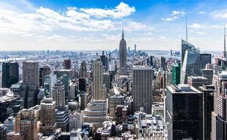 paisagem urbana da cidade de nova york foto