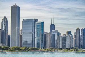 horizonte do centro de chicago foto