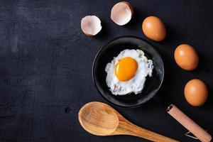 ovos fritos em uma frigideira
