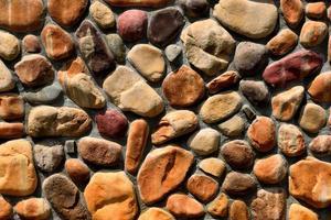 parede de pedra marrom foto