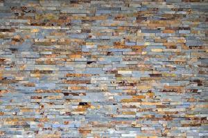 parede de tijolos coloridos