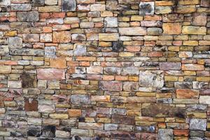 parede de tijolos, vista externa foto