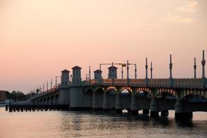 ponte dos leões em st. augustine, florida. foto