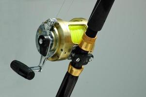 close-up do carretel de pesca foto