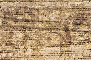 parede de tijolos grunge foto