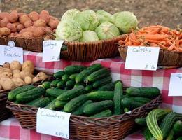 vegetais à venda