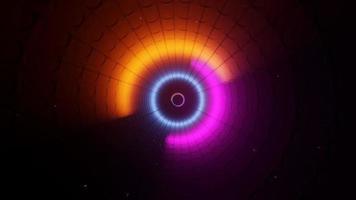 Túnel de espectro colorido do arco-íris 3D