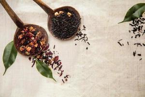 chá de folhas soltas secas