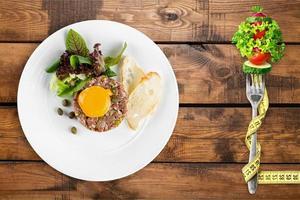 macarrão, prato, closeup foto