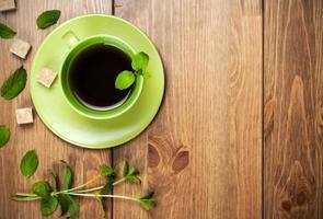chá de hortelã foto