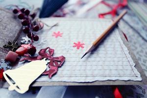 produção de scrapbooking de cartões de natal