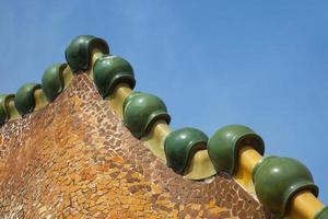 detalhe da casa batllo em barcelona foto