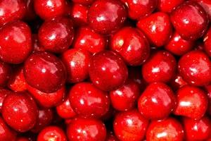 fundo doce cereja vermelha foto