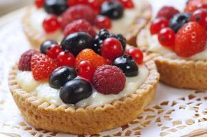 sobremesa de baga closeup foto