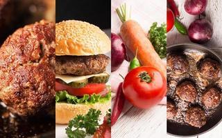 carne e legumes foto