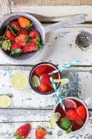 limonada de morango foto