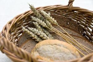 pão e cereais foto