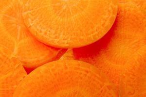 fatias de cenoura foto