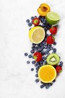 variedade de frutas foto