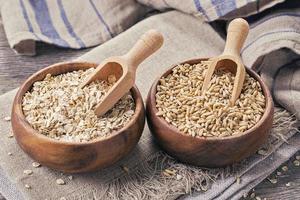 flocos e sementes de aveia