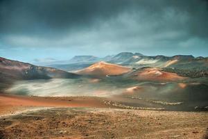 vulcão e deserto de lava